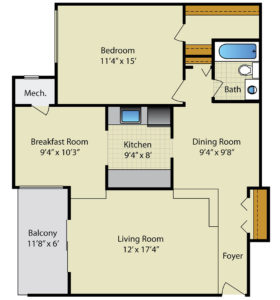 Strathmore House 1 Bedroom 1 Bath