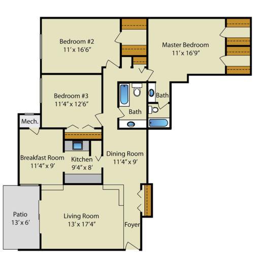 Strathmore House 3 Bedroom 2 Bath