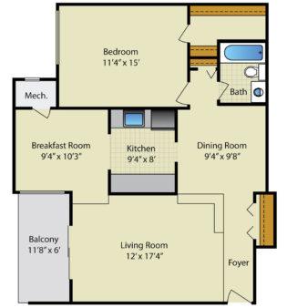 Strathmore House 1 Bedroom 1 Bath